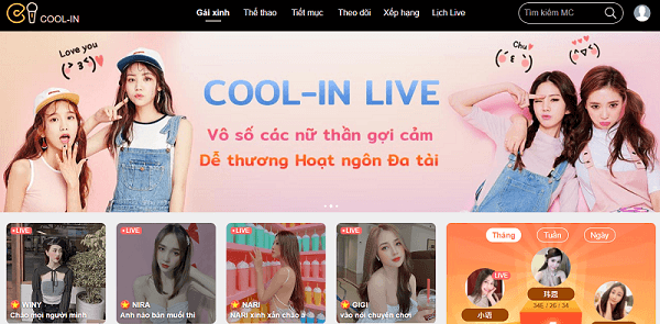 cool-in live kubet - gái xinh livestream